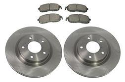 Front Premium Posi Ceramic Brake Pad & Rotor Set Kit for Nis