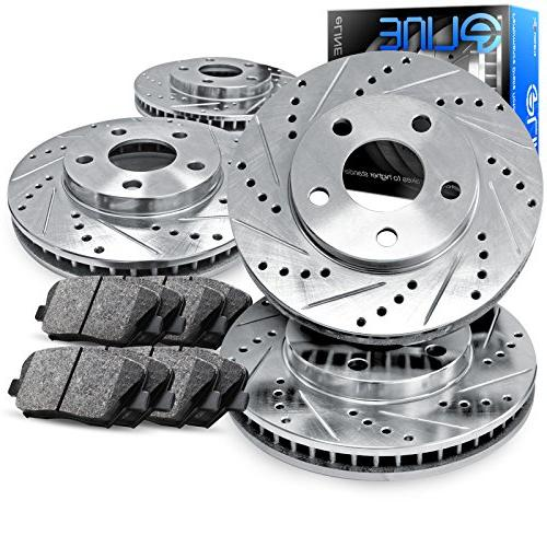 complete kit eline drilled slotted brake rotors