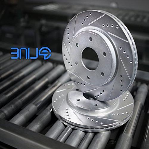 Front Slot Brake Rotors+Ceramic