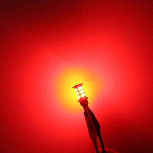 Alla Lighting 921 Strobe LED High-Mounted Bulbs Super Bright 921 Bulb High 4014 SMD LED W16W Bulb Flashing 3rd Lights