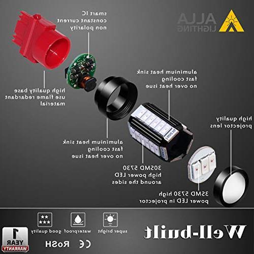 Alla 3156 3057 3157 LED Turn Brake Bulbs Xtreme Super T25 Bulb 5730 33-SMD 3157 3057 4157 4057 LED Signal