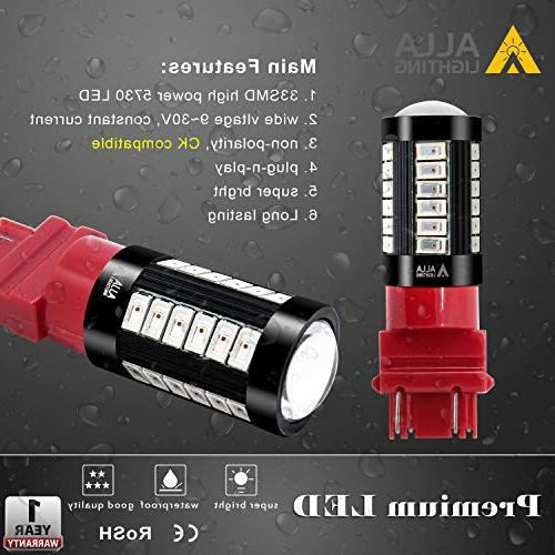Alla 3057 Turn Signal T25 Bulb 33-SMD 3157 Bulb 3057 3457 4157 4057 Signal Tail