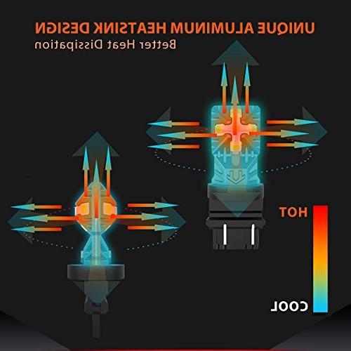 LASFIT 3157 3156 3057 3457 LED Polarity Free Super Bright LED Lights, Tail Signal Lights,