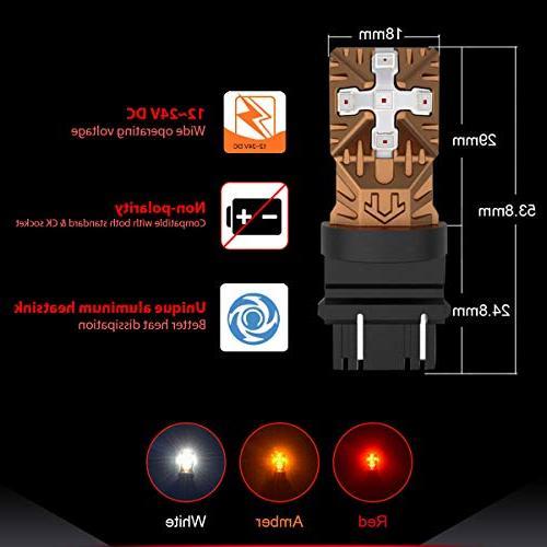 3457 LED Bulbs Free Lights, Use Brake Tail Turn Lights,