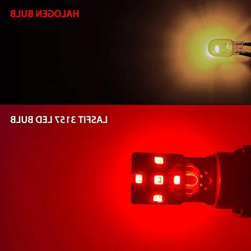 LASFIT 3157 3457 LED Free Super Bright Lights, Use Lights, Brilliant Red