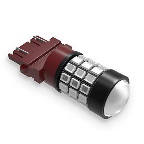 Alla Lighting Super Bright 3156 3057 3157 LED High 2835 SMD 12V LED 3157 Blinker Light T25 3156 3157 Red LED Stop Bulbs