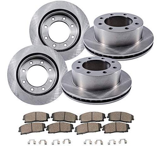 8 lug front and rear brake rotors