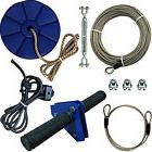 CTSC 95 Foot Zip Line Cable Kit with Brake and Seat Backyard