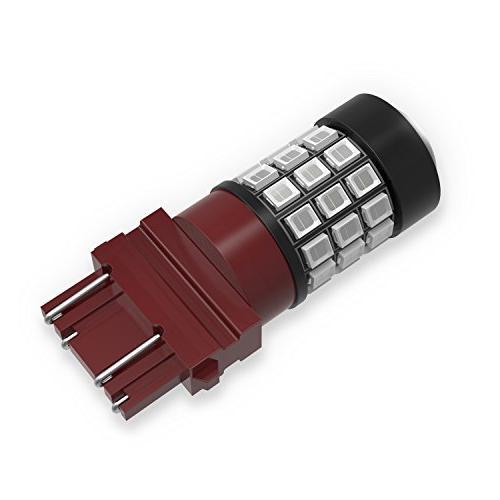 Alla Lighting 3156 LED Lights Bulbs Super 3056 4157 4057 3157 for Cars SUVs Flashing Brake Stop Light, Red