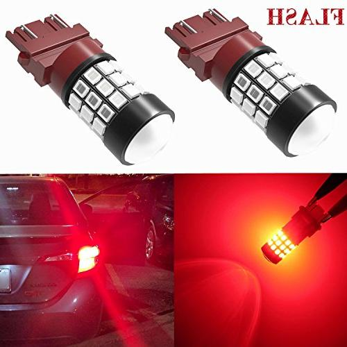 Alla Lighting 3156 3157 LED Strobe Brake Lights Bulbs Super