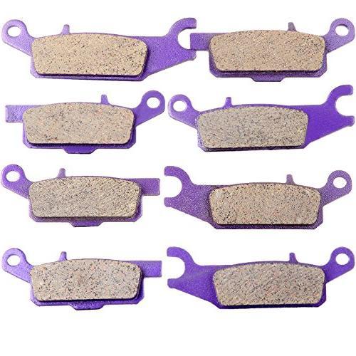 ECCPP FA444 FA443 FA445 FA446 Brake Pads Front and Rear Kevl