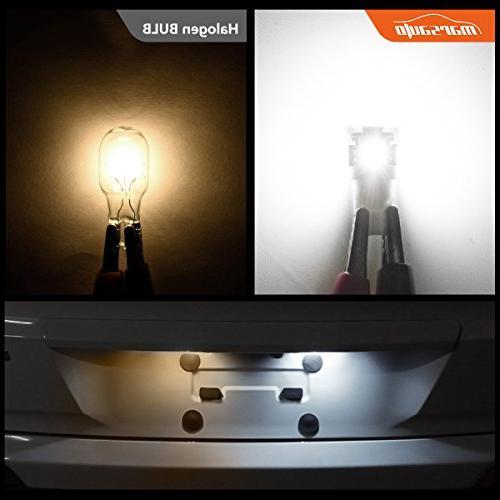 Marsauto Light Bulb 6000K 168 Bulbs Map Courtesy Plate