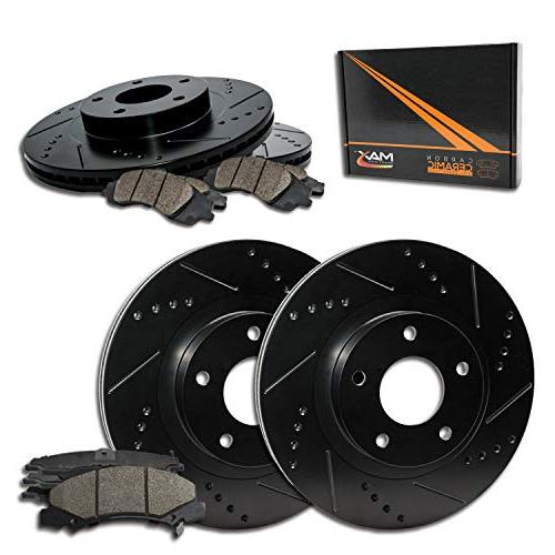 max brakes e coated slotted drilled rotors