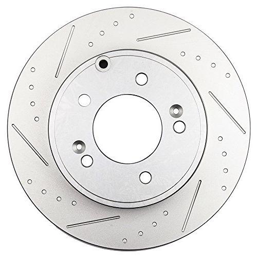 Automotive Replacement Rotors,ECCPP 2pcs Brake Rotors Brakes 2006-2015 Hyundai Hyundai Kia Optima
