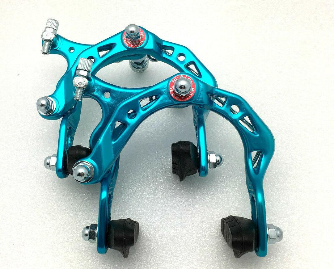 BICYCLE BIKE ALUMINUM SIDE PULL BRAKE CALIPER MTB BMX BLUE F