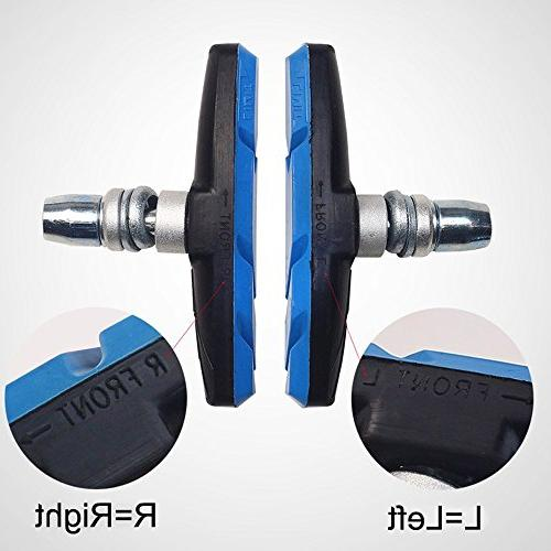 Alritz Bike Brake Set, 3 Mountain Shoes with and No 70mm, Front Back