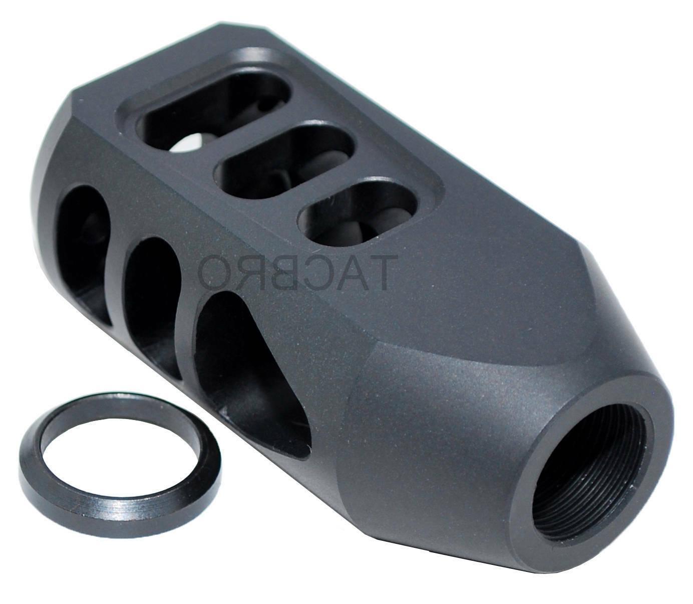 "6.5 Creedmoor Black Aluminum 5/8""x24 Tanker Style Muzzle Bra"
