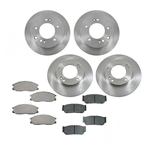 brake pad and rotor kit ceramic front