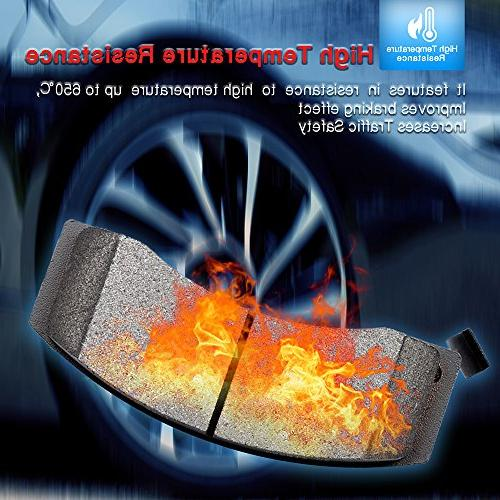 Brake Pads,ECCPP 4pcs Ceramic Brake Kit Enclave/Rainier,Chevy SSR/Trailblazer/Trailblazer XUV,Oldsmobile Bravada,Isuzu,Saab,Saturn
