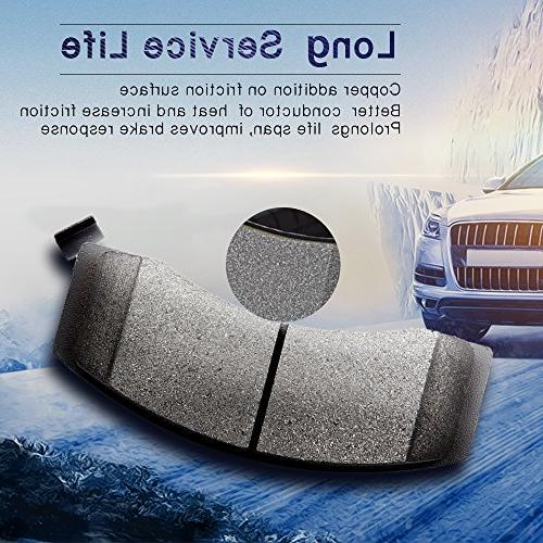Brake Pads,ECCPP 4pcs Rear Ceramic Disc Pads Kit