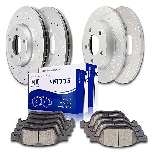 brake rotors brakes pads kits 4pcs front