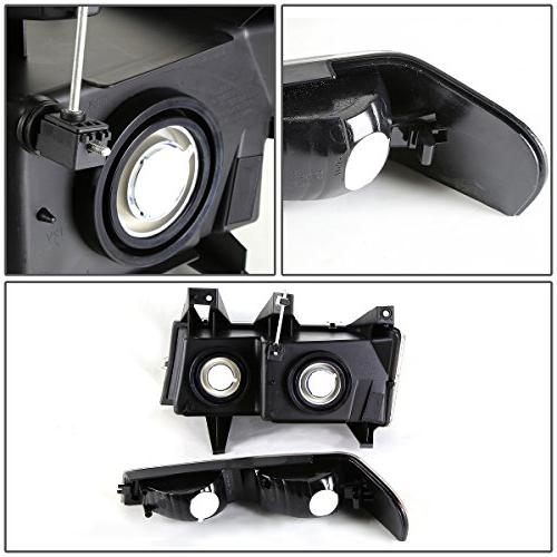 For Chevy Canyon 4Pcs Clear Headlight Light