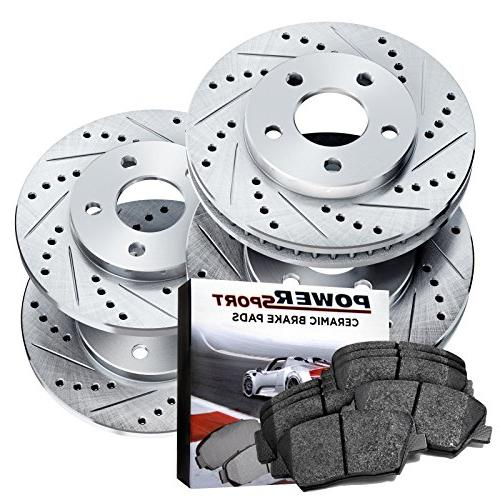 cross drilled slotted brake rotors and ceramic