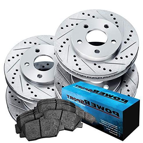 full kit cross drilled slotted brake rotors