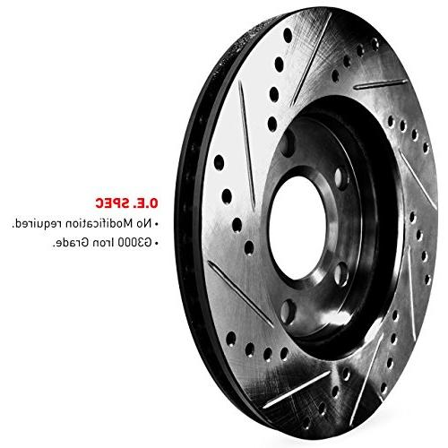 Black Edition Drilled Slotted Brake Rotors Ceramic