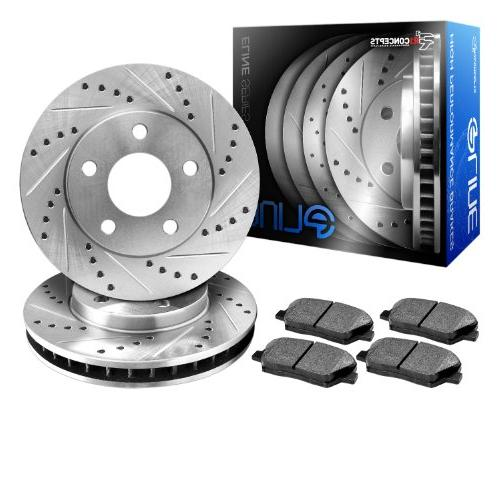 keds11553 eline series cross drilled slotted rotors