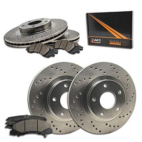max brakes cross drilled rotors w ceramic