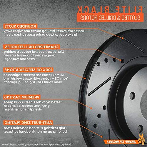 Max E-Coated Slotted|Drilled Front Brake Kit KT001983