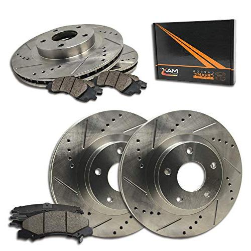 max brakes front rear premium slotted drilled