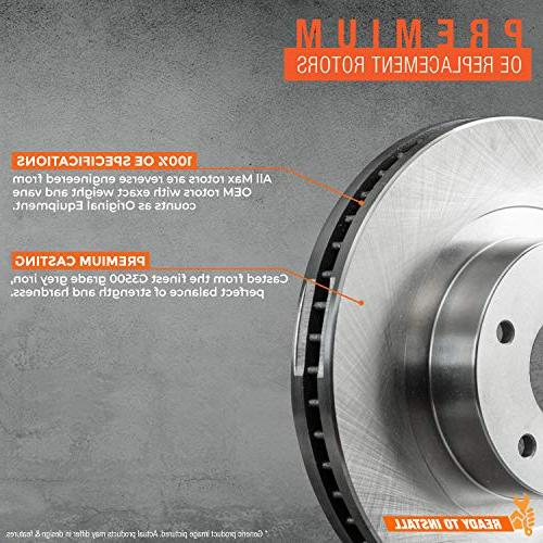 Max Brakes Series w/Ceramic Premium Brake KT010141 | Fits: 2005 BMW 325xi