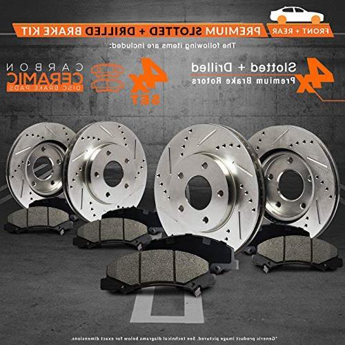 Max Brakes Rear Premium Rotors Pads Performance Brake Kit Fits: 11 12 2013 3 2.0L