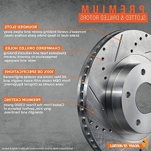 Rear Premium Drilled Rotors Brake KT008933 Fits: 2011 11 2012 12 2013 Mazda 3 Models