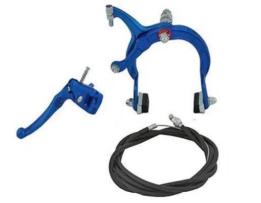 new bike bicycle brake rear alloy blue