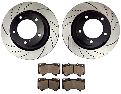 qpd10002 front slotted and drilled rotors