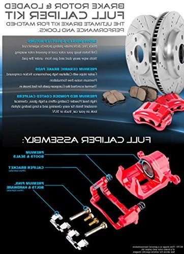 REAR Premium OE 5 Brake Disc Rotors + Brake +