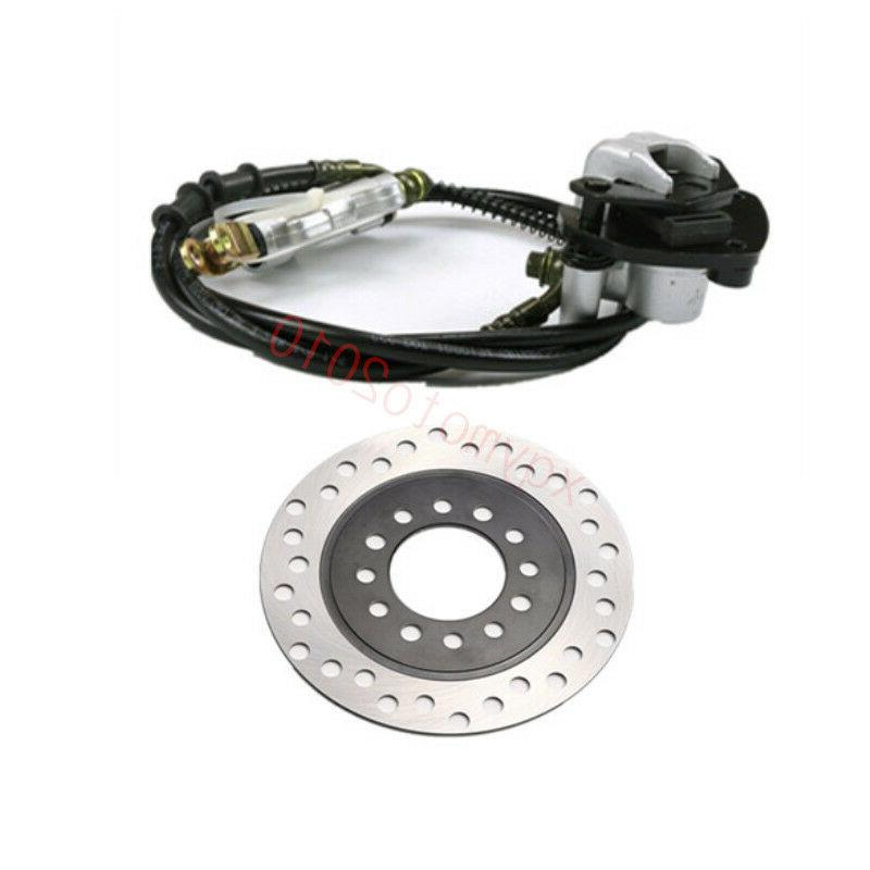 Rear Hydraulic Brake Master Cylinder Brake Pad + Rotor Disc