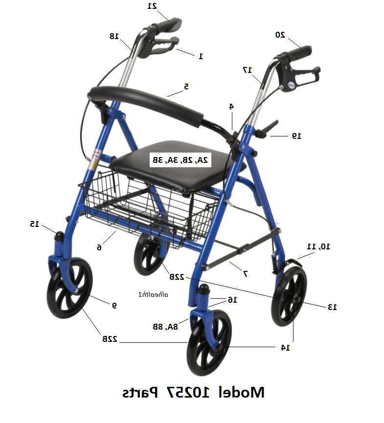 Drive Rollator Model 10257 Replacement Parts  *NEW*  Free Sh