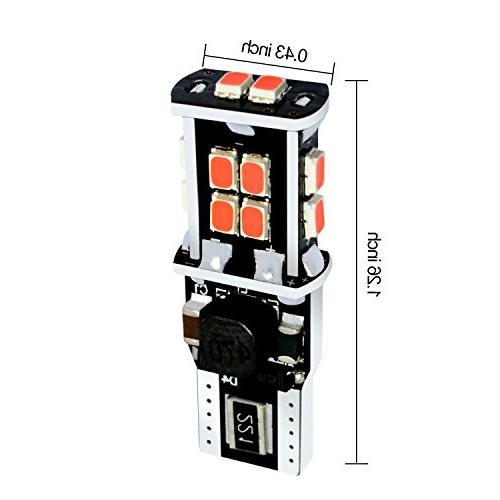 Alla Super T15 912 921 Bulbs Pure LED 3020 SMD LED Center High-Mounted Lamp