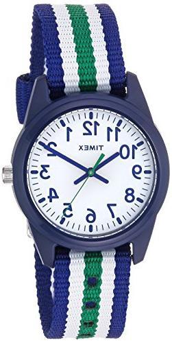 Timex Boys TW7C10000 Time Machines Blue/Green/White Stripes