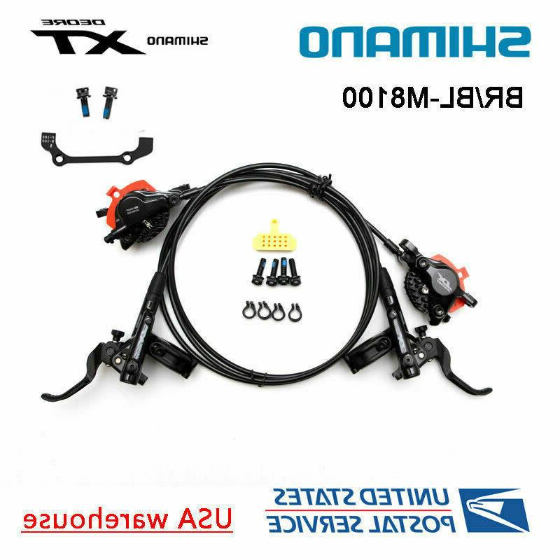 Shimano XT M8000 M8100 MTB Hydraulic Disc Brake Set Front Re