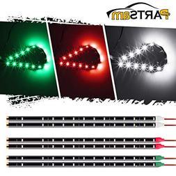 """Partsam LED Light Strip kit 6 pcs 12"""" 15 LEDs Bow Led Naviga"""