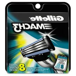 Gillette Mach3 Base Cartridges, 8 Count