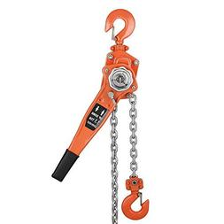 Lolicute Manual Lever Chain Hoist,Chain Block Ratchet 1-1/2