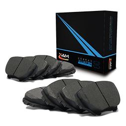 Max Brakes Carbon Metallic Performance Disc Brake Pads Front