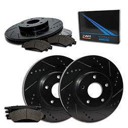 Max Brakes E-Coated Slotted|Drilled Rotors w/Metallic Brake