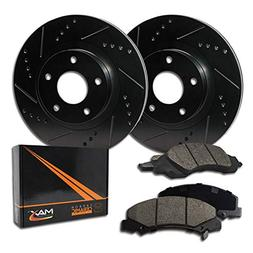 Max Brakes E-Coated Slotted|Drilled Rotors w/Ceramic Brake P